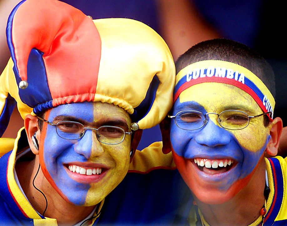 Die kolumbianischen Fans - 1 - Bildquelle: Orlando Kissner/AFP
