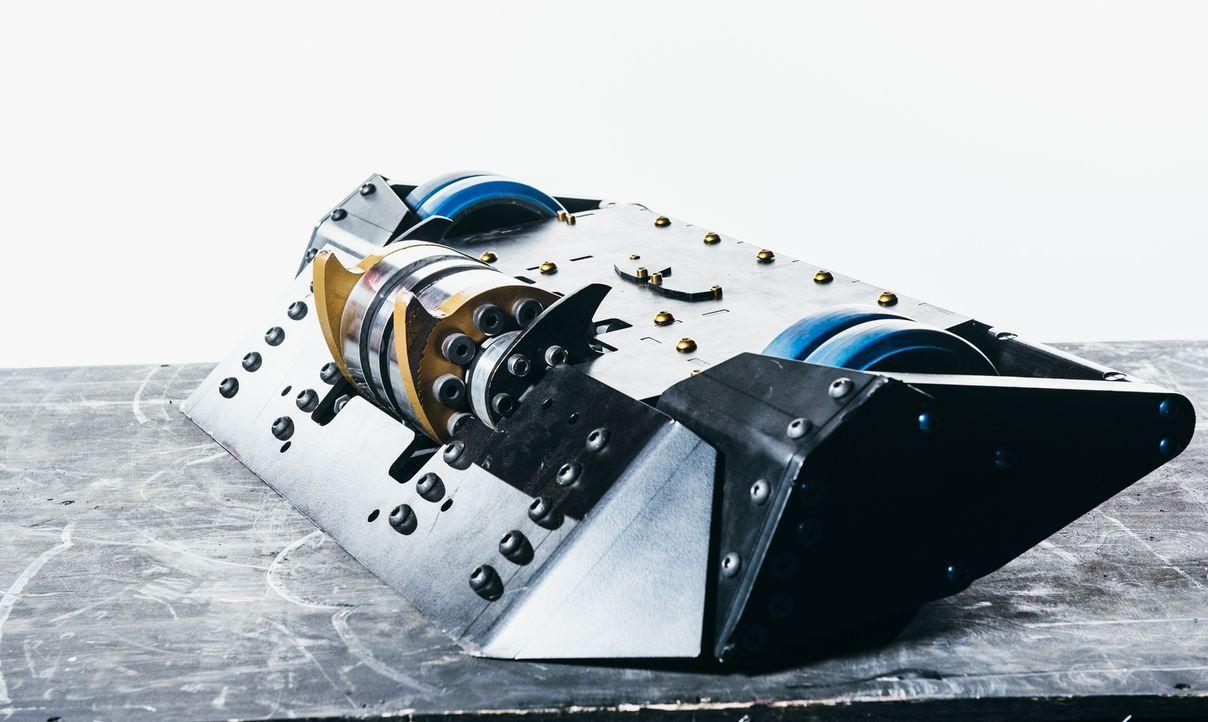"""Dieser selbst gebaute Roboter soll für das Team Pulsar die """"Robot Wars"""" gewinnen... - Bildquelle: Andrew Rae"""