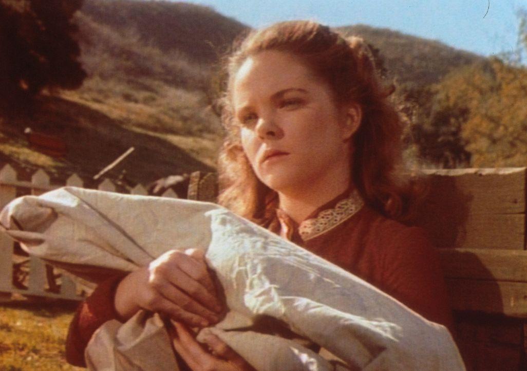 Stumm hält Mary (Melissa Sue Anderson) ihr totes Baby im Arm. Wenig später erleidet sie einen Nervenzusammenbruch. - Bildquelle: Worldvision