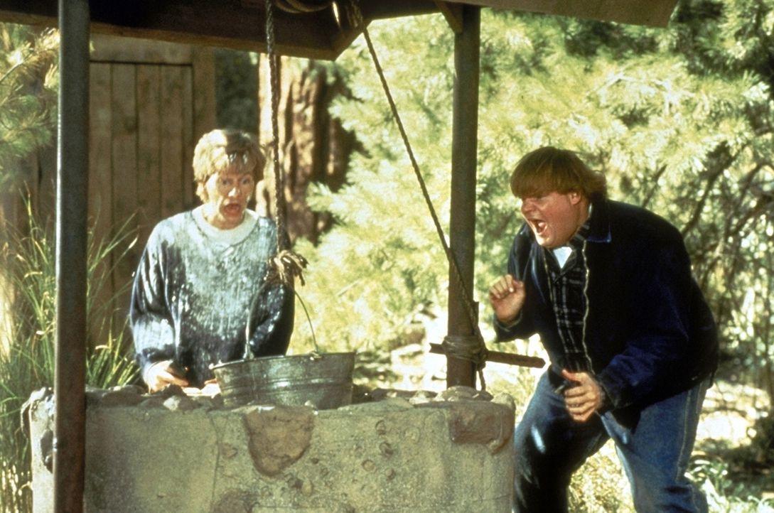 Al Donnelly, der unbedingt Gouverneur des Staates Washington werden will, schickt seinen dämlichen Bruder Mike (Chris Farley, r.) zusammen mit seine... - Bildquelle: Paramount Pictures