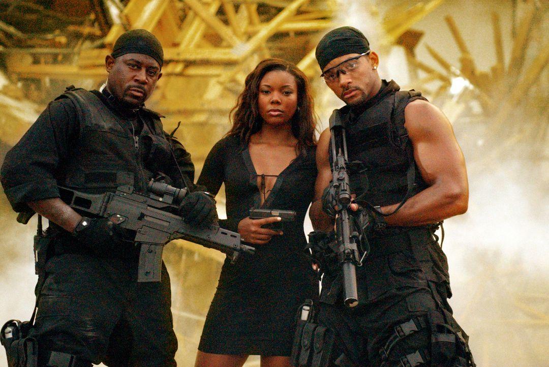Das freundschaftliche Arbeitsverhältnis von Mike (Will Smith, r.) und Marcus (Martin Lawrence, l.) wird auf eine harte Probe gestellt, als sich Mike... - Bildquelle: 2004 Sony Pictures Television International. All Rights reserved.