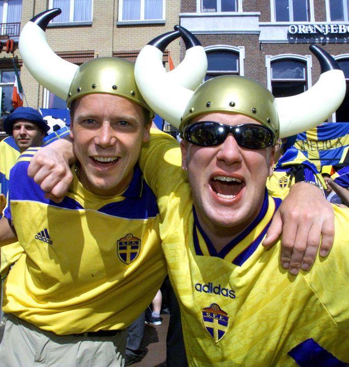 Fußball-Fan-Schweden-000615-dpa - Bildquelle: dpa
