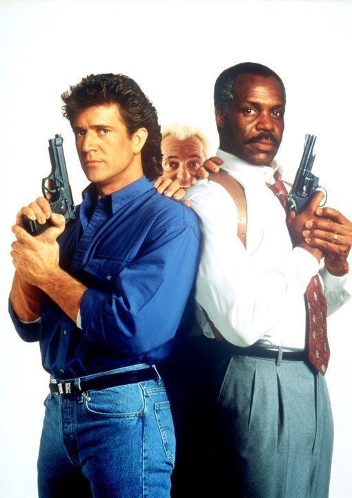 Wieder im Einsatz: Riggs (Mel Gibson, l.), Murtaugh (Danny Glover, r.) und Leo Getz (Joe Pesci, M.) ... - Bildquelle: Warner Bros.