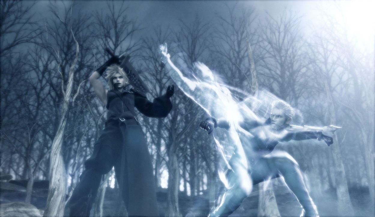 """Cloud hat der Kadaj-Gang den Kampf angesagt! Diese versucht eine Wiedervereinigung mit der """"Mutter"""" zu erreichen, was Cloud zu vehindern weiß! - Bildquelle: 2005 Square Enix Co., LTD. All Rights Reserved."""