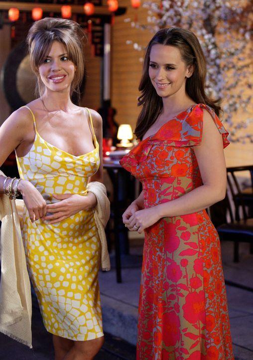 Melinda (Jennifer Love Hewitt, r.) lernt Nina (Nikki Cox, l.), eine ehemalige Affäre von Professor Payne, kennen ... - Bildquelle: ABC Studios