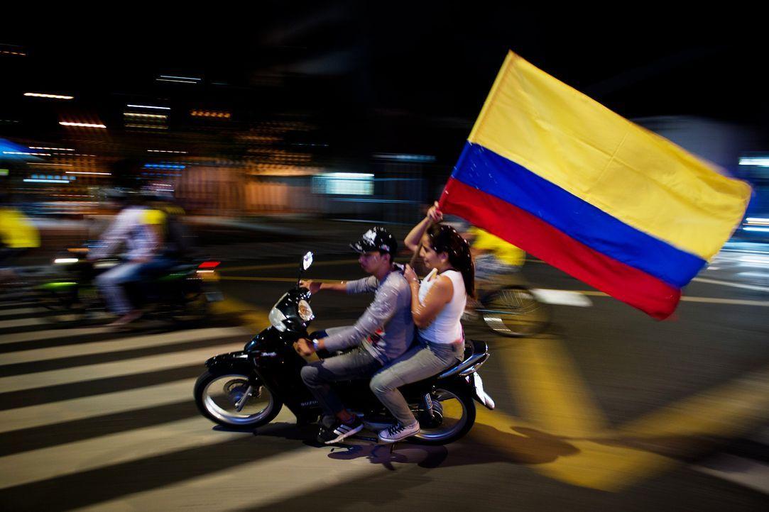 Die kolumbianischen Fans - 4 - Bildquelle: AFP