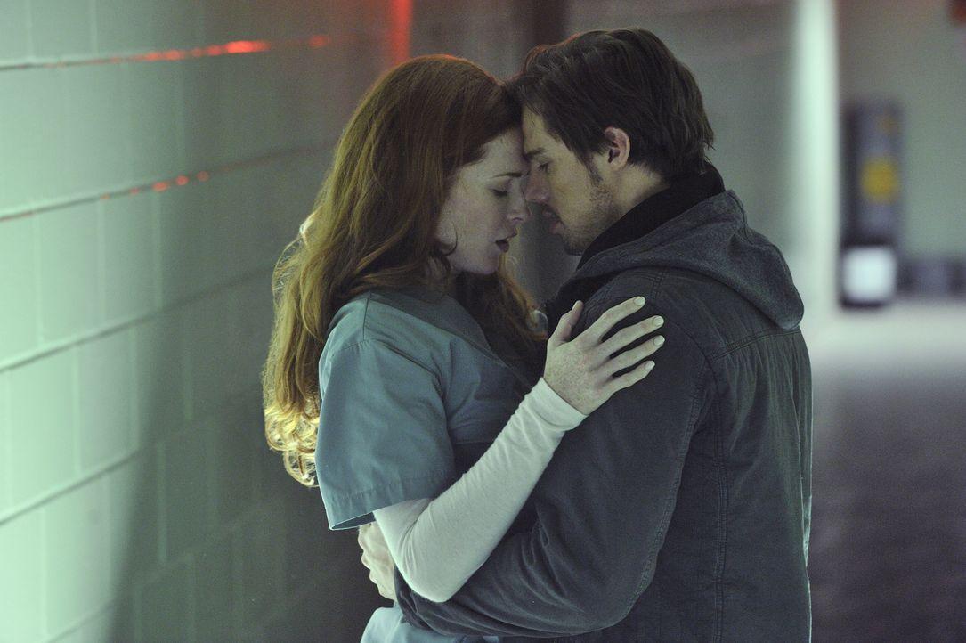 Alex (Bridget Regan, l.) kann es nicht fassen, als plötzlich Vincent (Jay Ryan, r.), ihr totgeglaubter Verlobter, vor ihr steht ... - Bildquelle: 2012 The CW Network. All Rights Reserved.