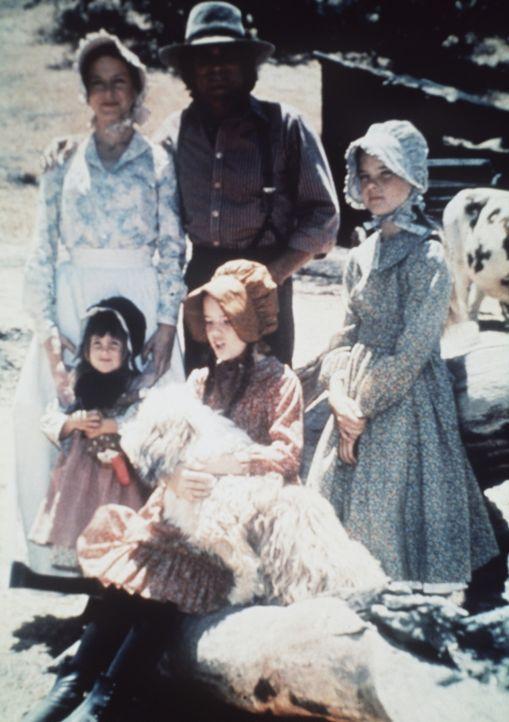 Die Eltern Caroline (Karen Grassle, hinten l.) und Charles Ingalls (Michael Landon, hinten M.) mit ihren Töchtern Mary (Melissa Sue Anderson, r.),... - Bildquelle: Worldvision