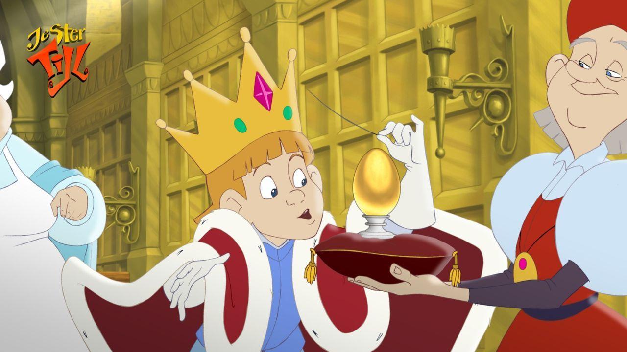 Der kleine König Rupert ahnt nicht, dass dies eine quicklebendige Geburtstagsüberraschung wird … - Bildquelle: Capella Films International