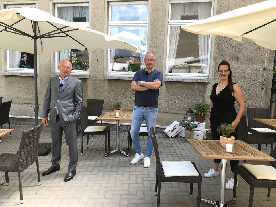 (v.l.n.r.) Thomas Hirschberger, Frank Rosin, Eva-Miriam Gerstner - Bildquelle: Kabel Eins