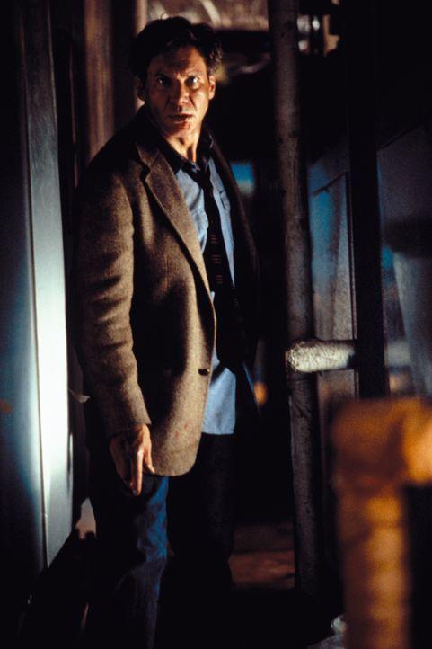 Dr. Kimble (Harrison Ford) wird des Mordes an seiner Frau schuldiggesprochen. Doch ihm gelingt eine spektakuläre Flucht. Er wird nur noch von einem... - Bildquelle: Warner Brothers International Television Distribution Inc.