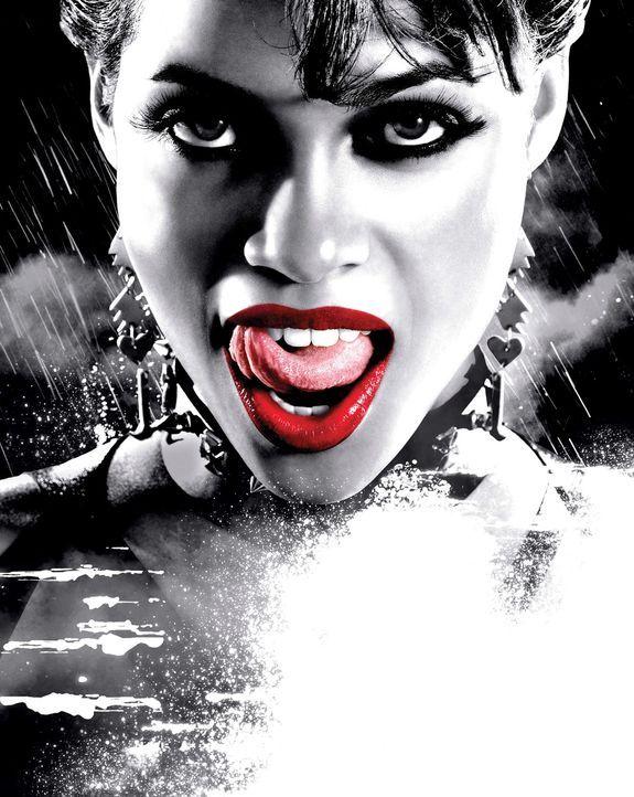 """In Sin City, der""""Stadt ohne Gnade"""" nimmt die Nutten-Gang von Gail (Rosario Dawson) den schier aussichtslosen Kampf gegen ein Verbrechersyndikat auf... - Bildquelle: Dimension Films"""