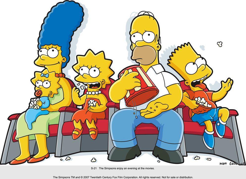 Familie Simpson gönnt sich mal wieder einen Kinobesuch ... - Bildquelle: 2007 Twentieth Century Fox Film Corporation