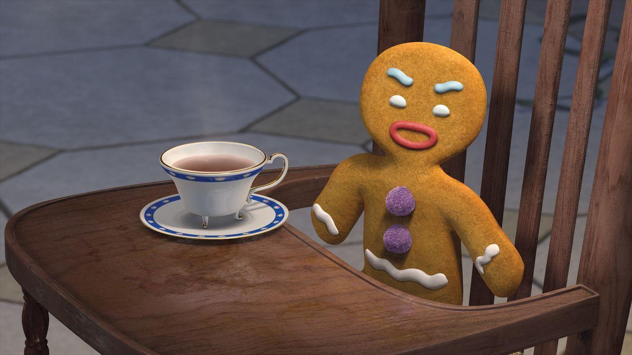 Geht die Dinge stets gemütlich an: das Lebkuchenmännchen ... - Bildquelle: TM &   2007 Dreamworks Animation LLC
