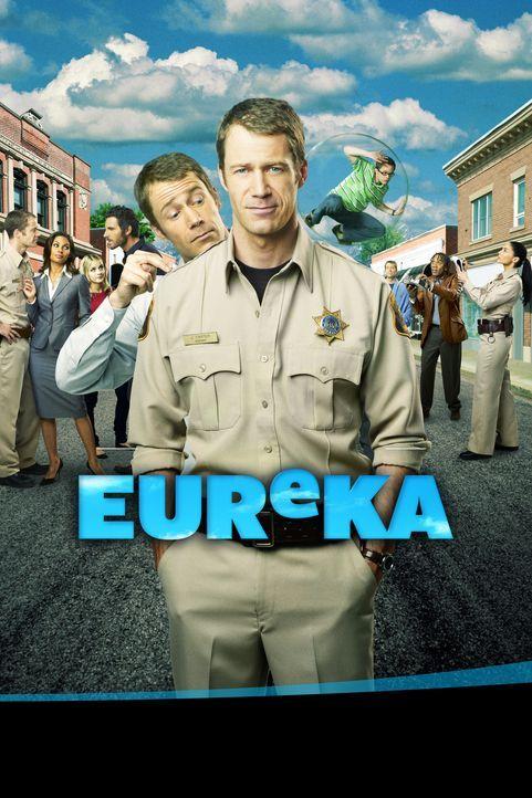 (2. Staffel) - Die Bewohner von Eureka machen dem neuen Sheriff Jack Carter (Colin Ferguson, M.) das Leben schwer ... - Bildquelle: Universal Television
