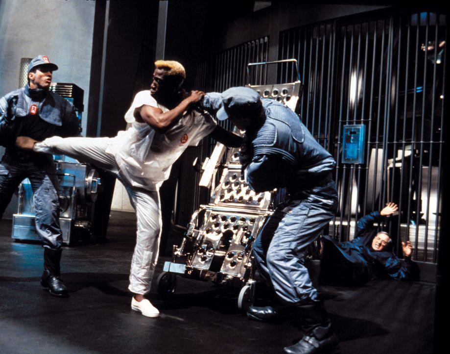 Während eines fulminanten Feuers gelingt es dem Killer Phoenix (Wesley Snipes, M.), sich aus seinem Eisgefängnis zu befreien. Was niemand ahnt, de... - Bildquelle: Warner Brothers International Television Distribution Inc.