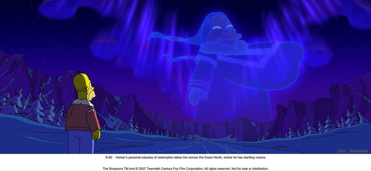 Irgendwo in Alaska: Eine Erscheinung sagt Homer, dass er Springfield retten muss, wenn er seine Familie nicht verlieren will ... - Bildquelle: 2007 Twentieth Century Fox Film Corporation