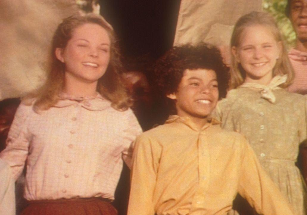 Mary (Melissa Sue Anderson, l.) und ihre Schülerin Sue (Michelle Downey, r.) freuen sich, in Zukunft mit Samson (Marcus Wyatt, M.) und seinen blind... - Bildquelle: Worldvision