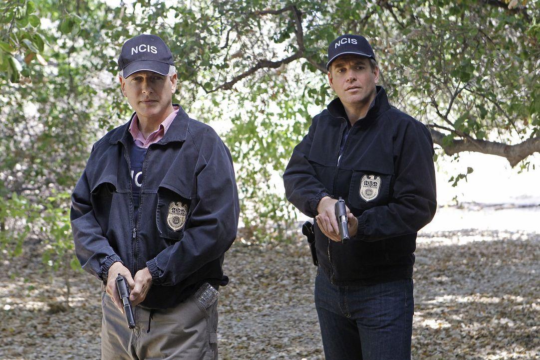 Versuchen, einen Mord aufzudecken: Gibbs (Mark Harmon, l.) und Tony (Michael Weatherly, r.) ... - Bildquelle: CBS Television