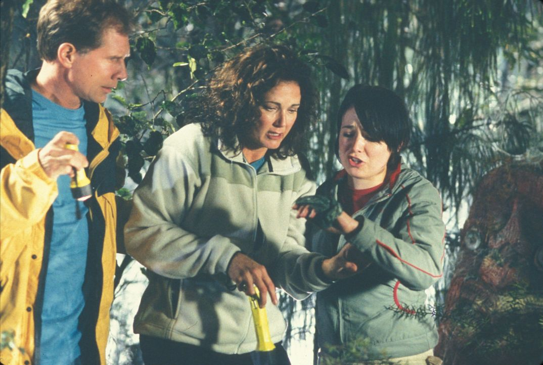 Janets (Lynda Carter, M.) geplante Familienzusammenführung zwischen Stiefvater (Parker Stevenson, l.) und Stieftochter (Emily Barclay, r.) gestalte... - Bildquelle: Regent Entertainment