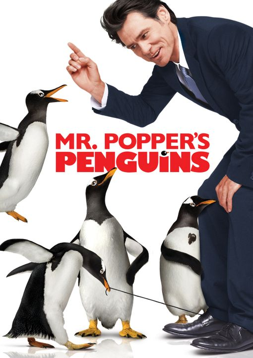 Mr. Poppers Pinguine - Plakatmotiv - Bildquelle: 2011 Twentieth Century Fox Film Corporation. All rights reserved.