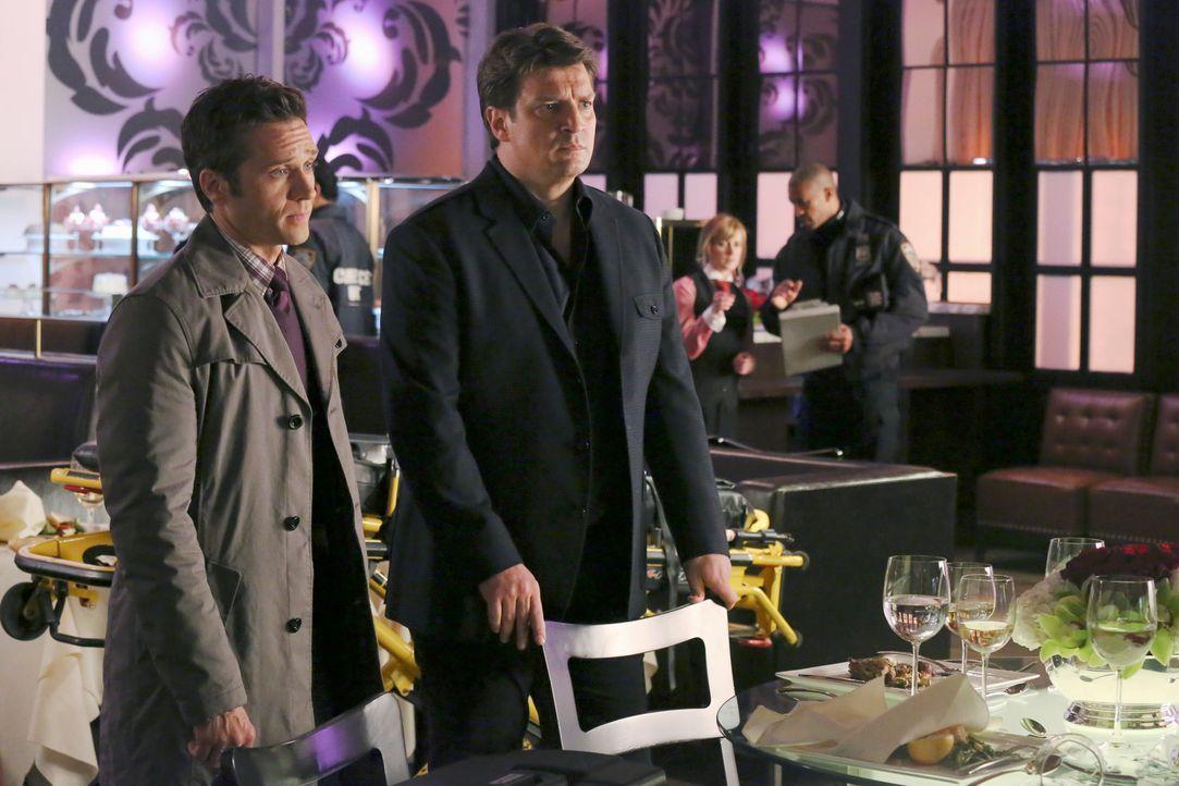 Beckett bekommt den Auftrag den Milliardär Erik Vaughn zu beschützen. Der fängt schon bald an, heftig mit ihr zu flirten, was Richard Castle (Nathan... - Bildquelle: ABC Studios