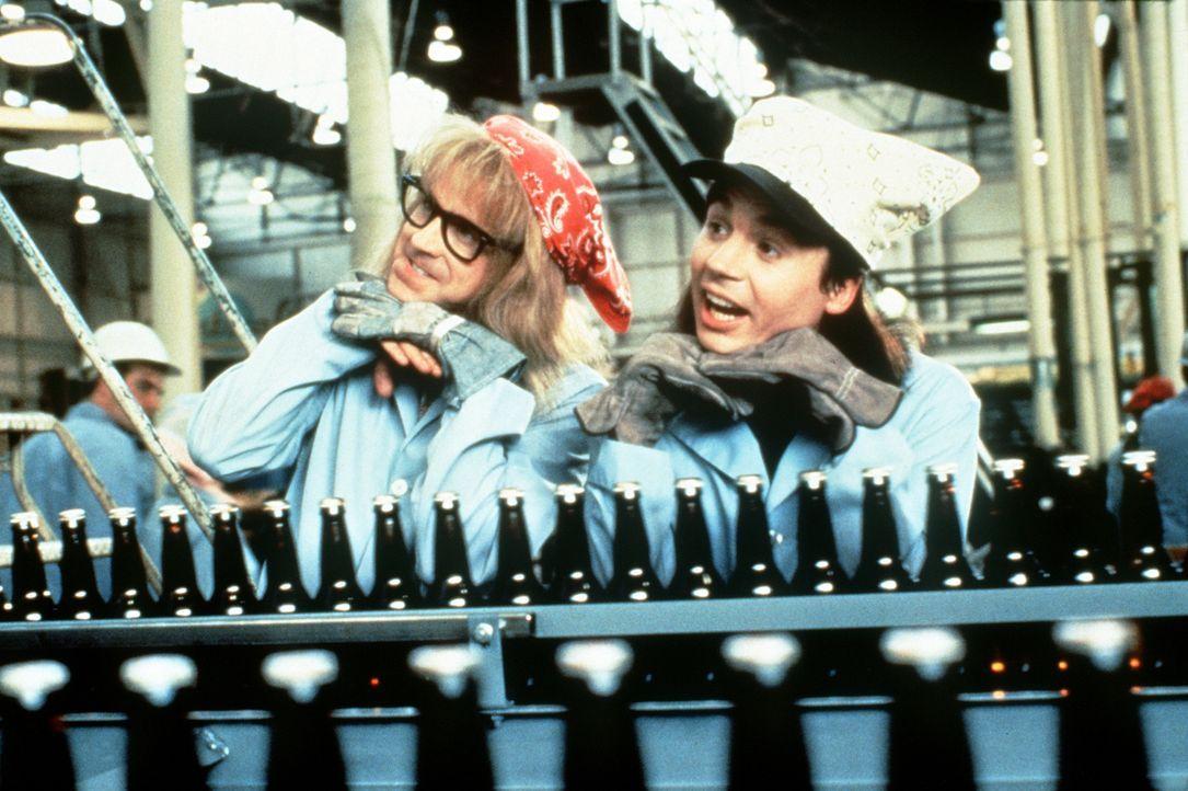 Wayne (Mike Myers, r.) und Garth (Dana Carvey, l.) haben verdammt viel Blödsinn im Kopf ... - Bildquelle: Paramount Pictures