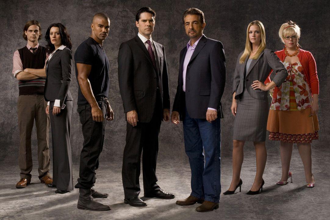(3. Staffel) - Ein starkes Team, das jeden Serientäter zur Strecke bringt: (v.l.n.r.) Special Agent Dr. Spencer Reid (Matthew Gray Gubler), Emily P... - Bildquelle: Touchstone Television