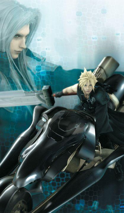 2 Jahre sind vergangen, seit Cloud (r.) den Bösewicht Sephiroth (l.) geschlagen und den Bewohnern Gaias ihren Frieden zurückgegeben hat! Doch es k... - Bildquelle: 2005 Square Enix Co., LTD. All Rights Reserved.
