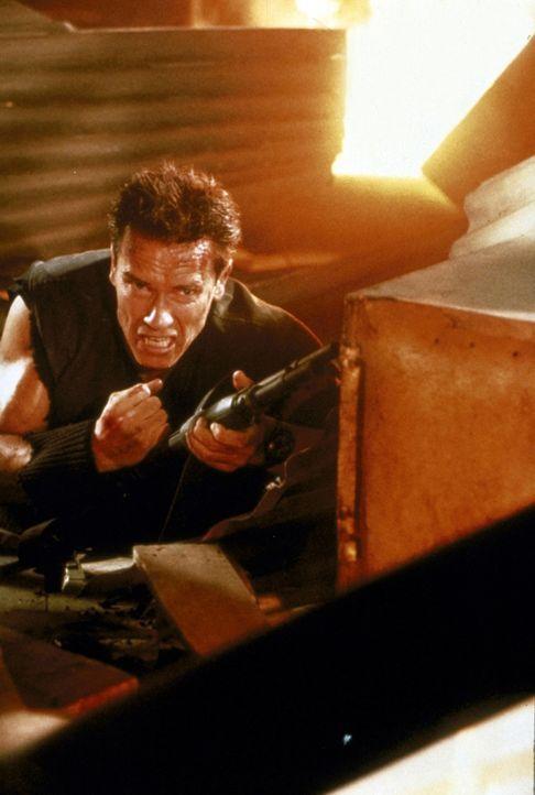 Wieder einmal muss sich John (Arnold Schwarzenegger) aus einer schier ausweglosen Situation befreien ... - Bildquelle: Warner Brothers International Television Distribution Inc.
