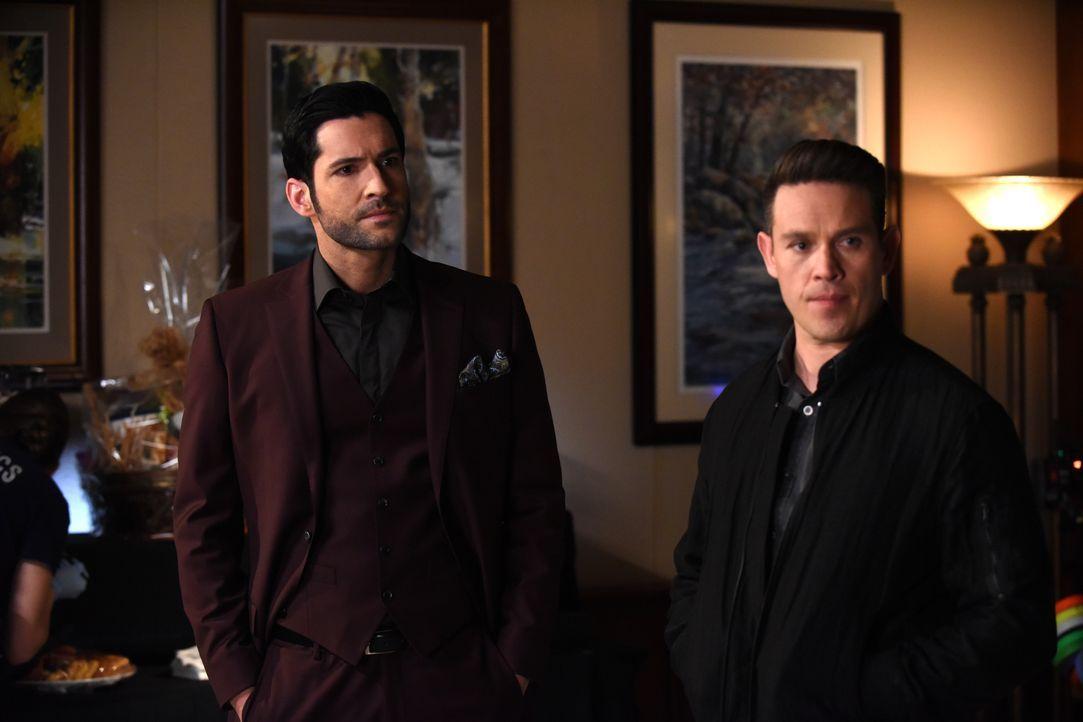 Lucifer (Tom Ellis, l.); Dan (Kevin Alejandro, r.) - Bildquelle: 2017 Fox Broadcasting Co.