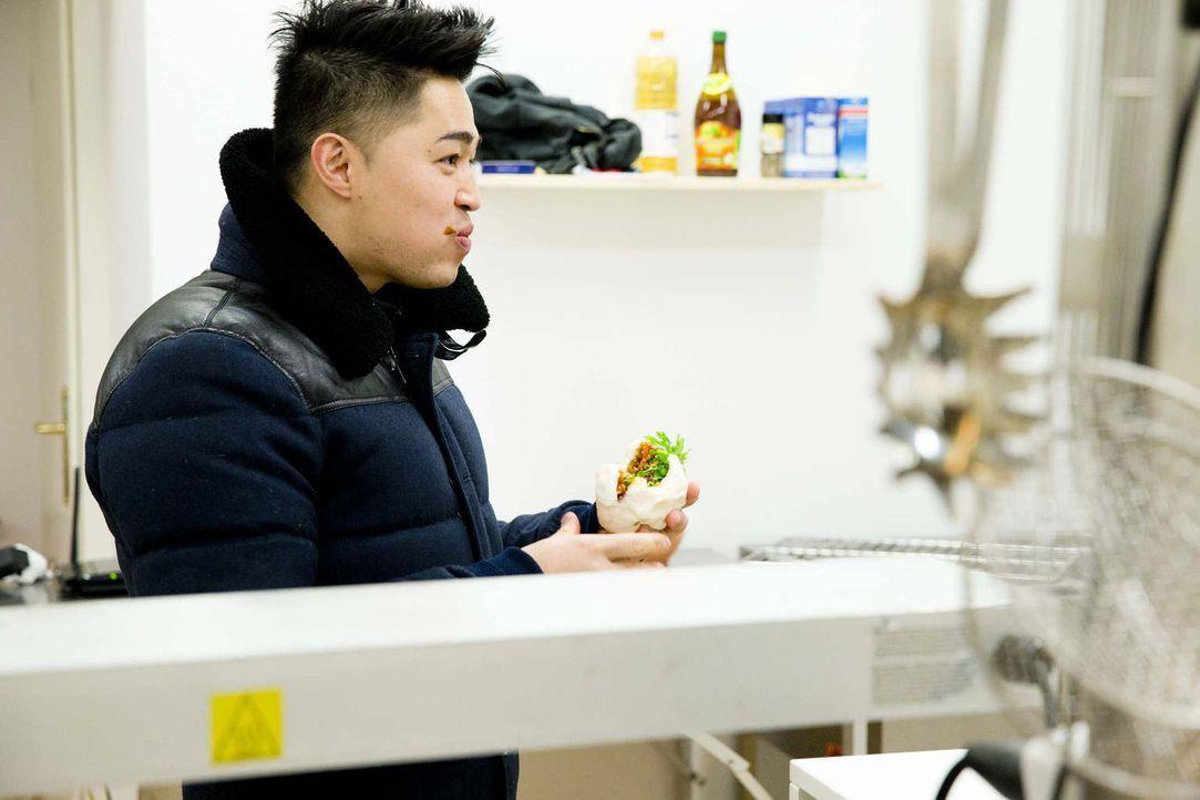 Anh Vu ist von seinem Produkt überzeugt - beste Voraussetzungen, um vor die Investoren zu treten ... - Bildquelle: Richard Hübner kabel eins