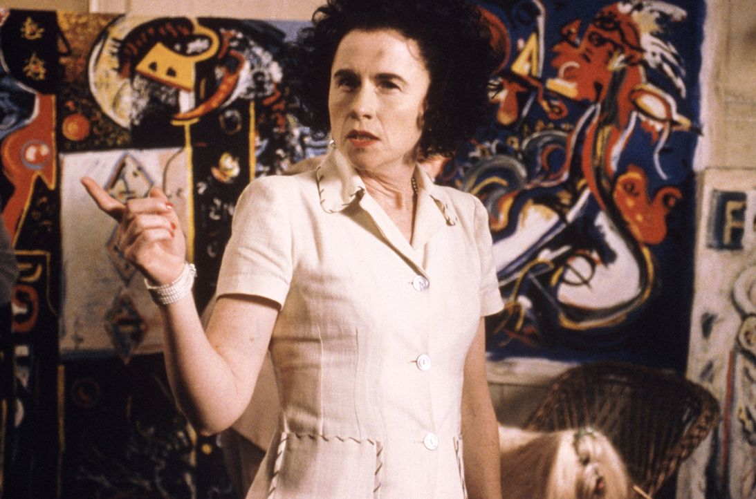 Schon bald kann sich Peggy Guggenheim (Amy Madigan) den expressionistische Farborgien, dem Action-Painting Pollocks nicht länger entziehen ... - Bildquelle: 2003 Sony Pictures Television International. All Rights Reserved.