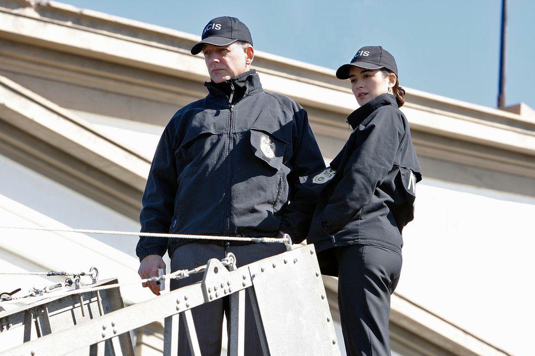 Um einen Mord aufzuklären, geben Gibbs (Mark Harmon, l.) und Ziva (Cote de Pablo, r.) alles ... - Bildquelle: Cliff Lipson CBS Television
