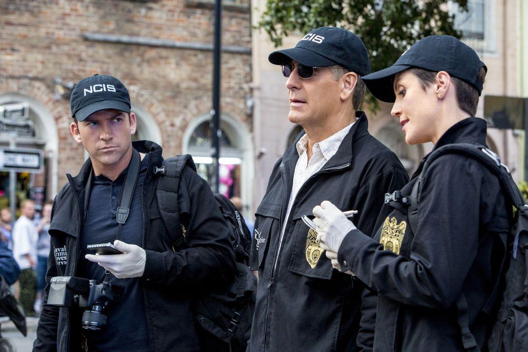 Ein neuer Mordfall beschäftigt Pride (Scott Bakula, M.), Lasalle (Lucas Black, r.) und Brody (Zoe McLellan, l.) ... - Bildquelle: 2014 CBS Broadcasting Inc. All Rights Reserved.