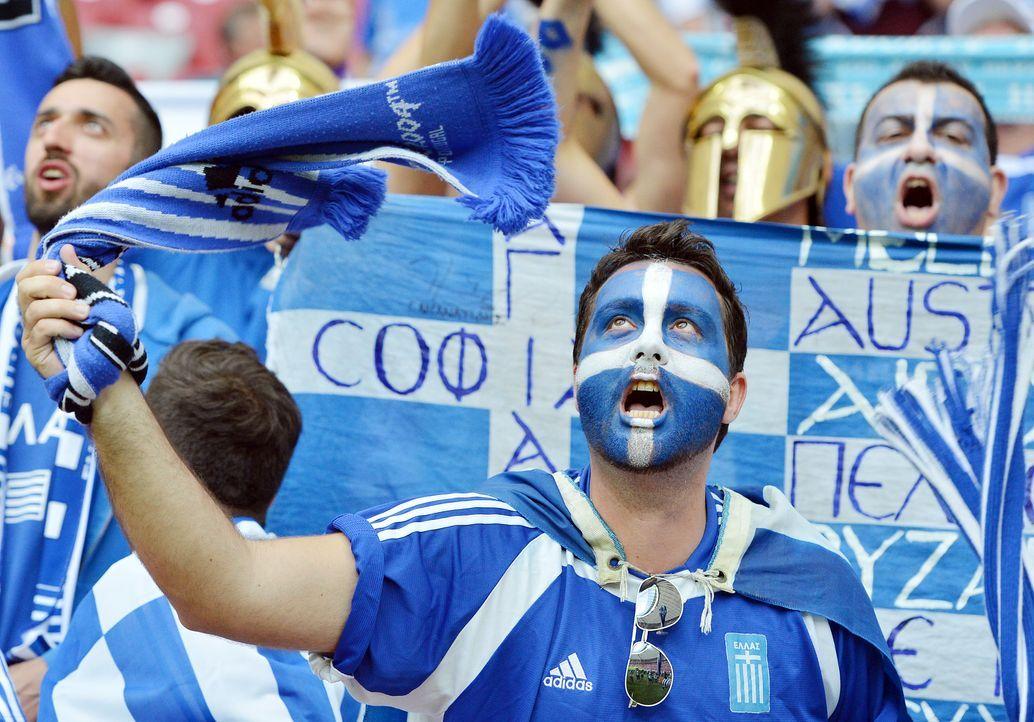 Die griechischen Fans - 5 - Bildquelle: AFP