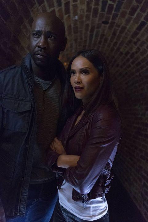 Als Lucifer unterwartet aus seiner Wohnung geworfen wird und das LUX aufgeben soll, ist sich Maze (Lesley-Ann Brandt, r.) sicher, dass Charlotte hie... - Bildquelle: 2016 Warner Brothers