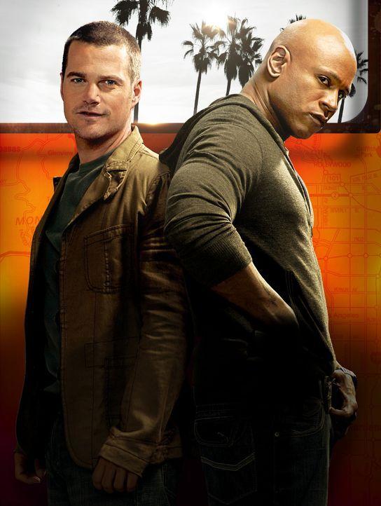 (8. Staffel) - Ermitteln Undercover im sonnigen Kalifornien, um die nationale Sicherheit zu wahren: Special Agent G. Callen (Chris O'Donnell, l.) un... - Bildquelle: 2016 CBS Studios Inc. All Rights Reserved.