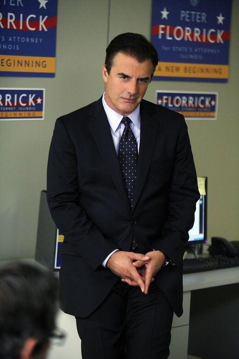 Um junge Wähler zu gewinnen, holt sich Peter Florrick (Chris Noth) die Unterstützung eines Rappers, den er aus dem Gefängnis kennt ... - Bildquelle: CBS Broadcasting Inc. All Rights Reserved