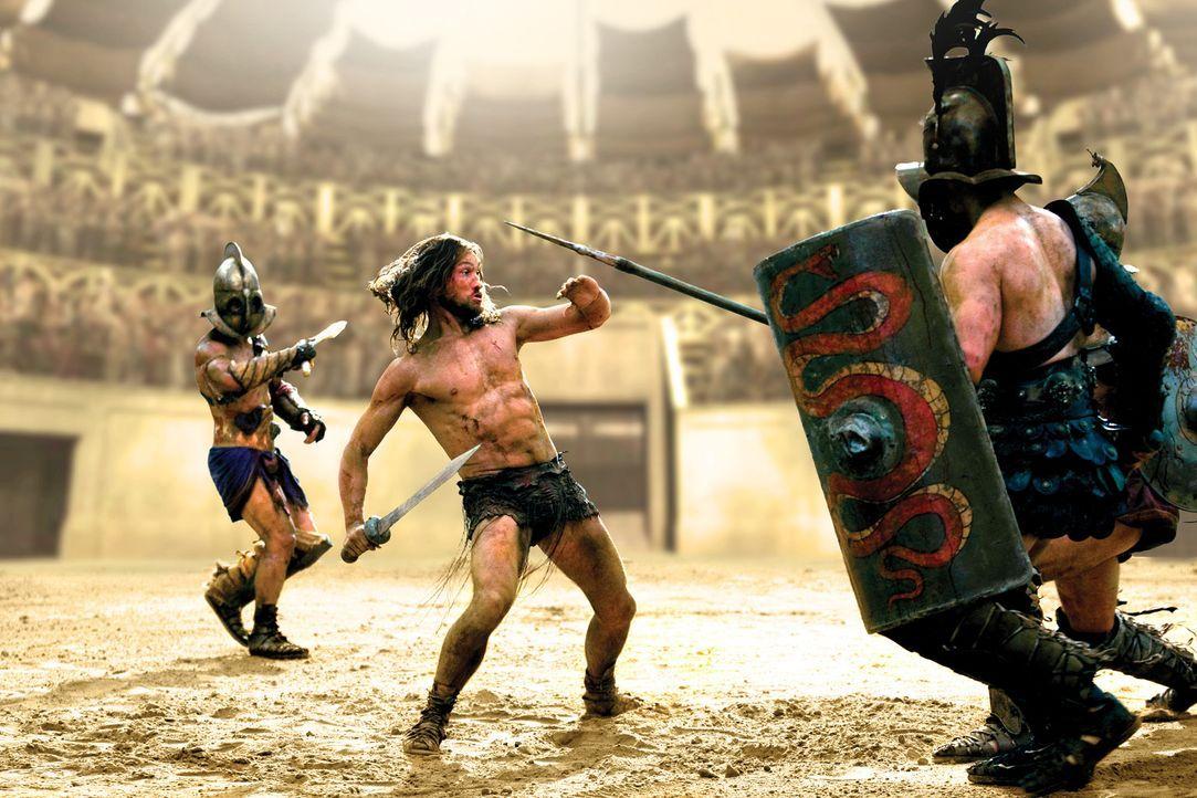 Soll er in der Arena seinen Tod finden: Spartacus (Andy Whitfield, M.) ... - Bildquelle: 2010 Starz Entertainment, LLC