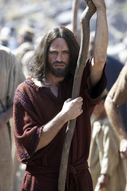 Moses (Dougray Scott) zieht mit seinem Volk, den ehemaligen Sklaven der Ägypter, durch die Wüste auf der Suche nach dem Gelobten Land, das Gott ih... - Bildquelle: Hallmark Entertainment