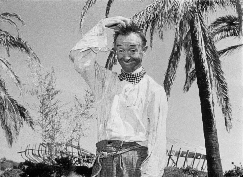 Endlich ist Stan (Stan Laurel) auf dem angeblichen Traum-Eiland angekommen. Aber was nun? - Bildquelle: Exploitation Pictures Inc.