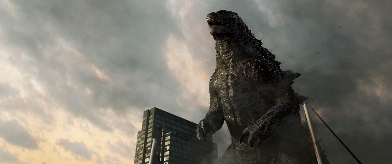 Alle Versuche, die paarungswilligen urzeitlichen Untiere zu vernichten und San Francisco zu retten, schlugen fehl. Kann Godzilla die beiden aufhalten? - Bildquelle: 2014 © Warner Bros.