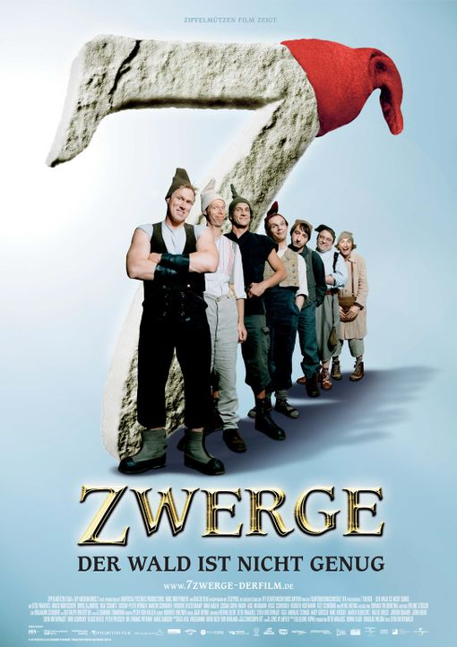 7 Zwerge - Der Wald ist nicht genug - Plakat - Bildquelle: 2006 Zipfelmützen Film, Film & Entertainment VIP Medienfonds 2, Universal Pictures Productions, MMC Independent, Rialto Film
