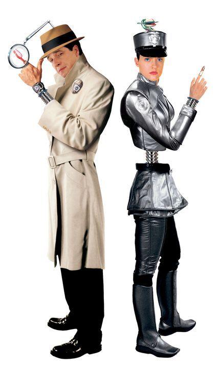 Gemeinsam sind sie unschlagbar: Inspector Gadget (French Stewart, l.) und G2 (Elaine Hendrix, r.) ... - Bildquelle: Walt Disney Pictures