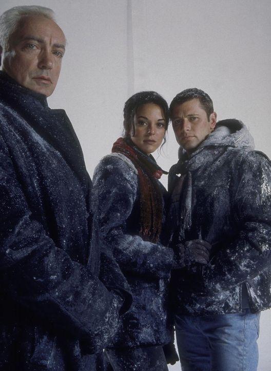 Können Dr. Kessler (Udo Kier, l.), Julie (Audie England, M.) und Robert (Grant Show, r.) gemeinsam die unerbittliche Kälte in der Hölle aus Schne... - Bildquelle: Trimark Pictures