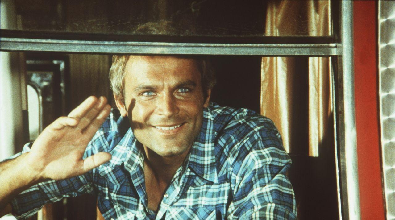 Wenn das Schlitzohr Kid (Terence Hill) so grinst, dann ist was im Busch ... - Bildquelle: Columbia Pictures