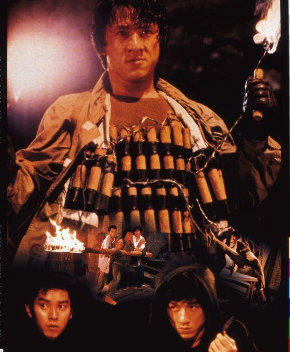 Eines Tages gerät Jackie (Jackie Chan) an hemmungslose Sektierer, die mit allen Mitteln an seine mittelalterliche Rüstung kommen wollen. Da beginnt... - Bildquelle: Golden Harvest Company