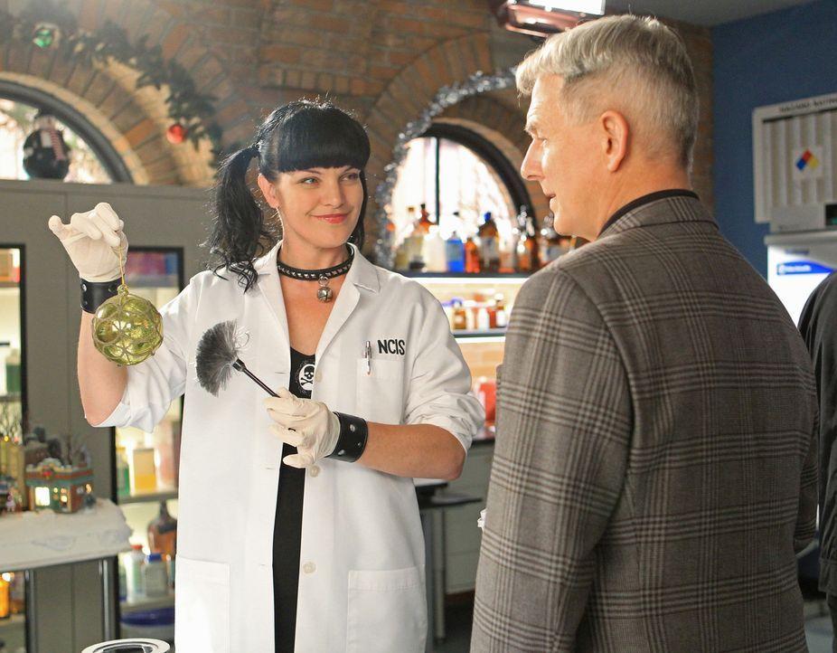 Während Gibbs (Mark Harmon, r.) in einem neuen Fall ermittelt, läuft ein Weihnachts-Countdown bei Abby (Pauley Perrette, l.) ab ... - Bildquelle: CBS Television