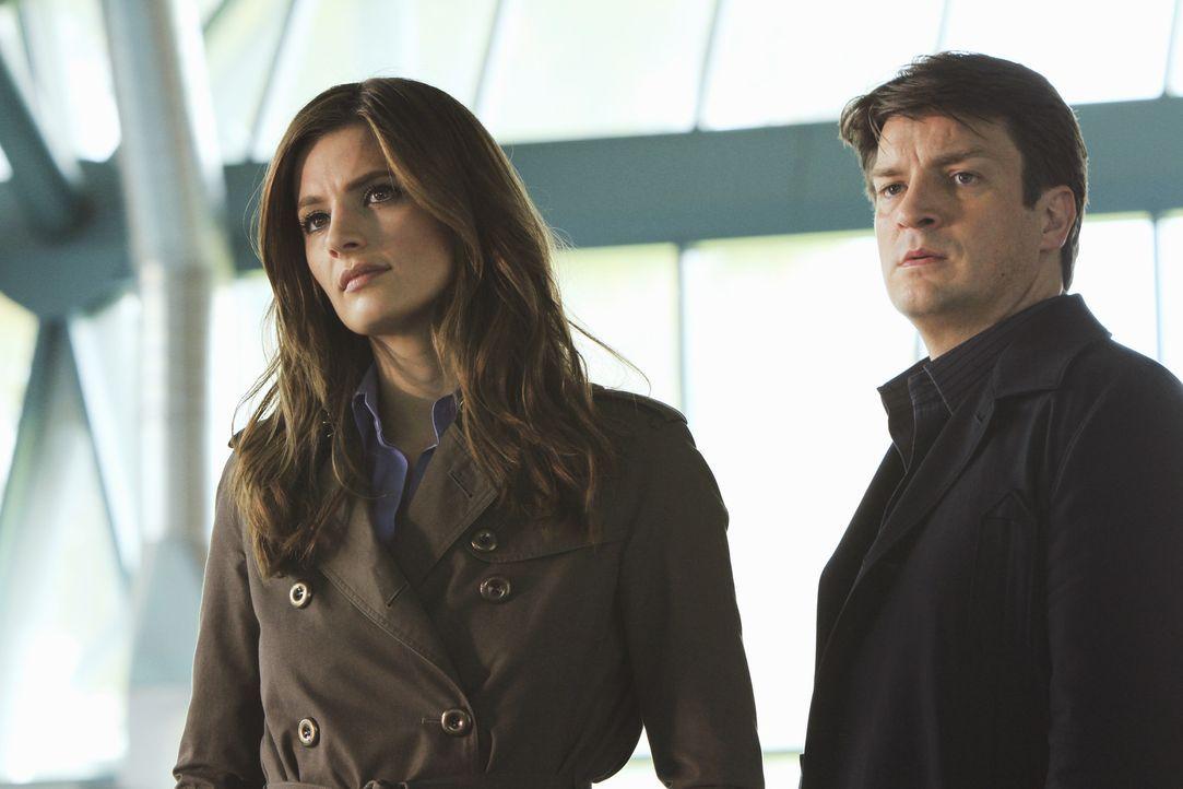 Der Tod eines Hochleistungsschwimmers beschäftigt Beckett (Stana Katic, l.) und Castle (Nathan Fillion, r.) ... - Bildquelle: ABC Studios